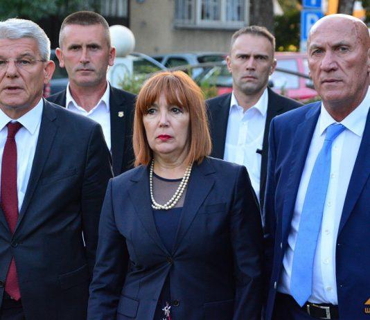 Šefik Džaferović, Melika Mahmutbegović i Hasan Ajkunić